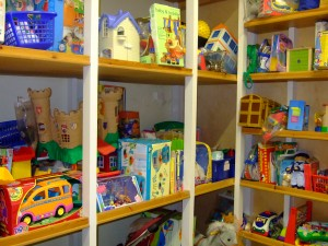 A small selection of toys in the borrowing room