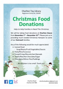 xmas food donation appeal poster2018JPG