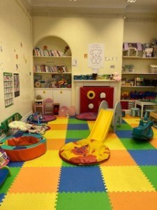 Stay-and-play area